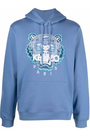 Kenzo Men Sweatshirts - Tiger embroidered relaxed hoodie