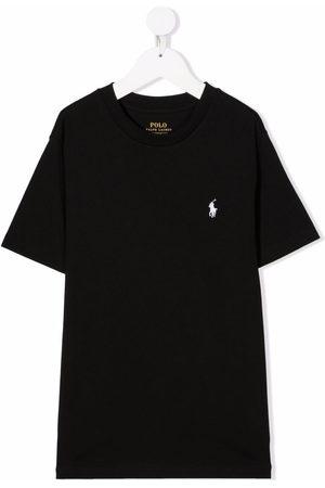 Ralph Lauren Kids Boys Polo Shirts - Polo Pony-embroidered cotton T-shirt