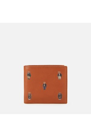 Polo Ralph Lauren Men's Smooth Leather Bear Logo Wallet