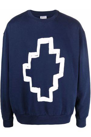 MARCELO BURLON Tempera cotton sweatshirt