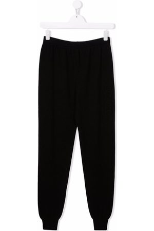 Balmain Trousers - High-rise tapered track pants