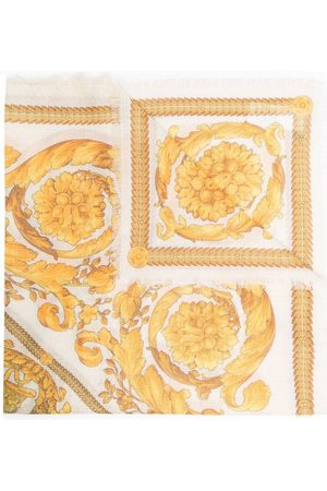 VERSACE Men Scarves - Barocco-print scarf - Neutrals