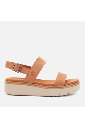 Timberland Women's Safari Dawn Leather Flatform Sandals