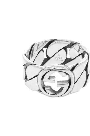 Gucci Gucci Interlocking G Gourmette Ring 10mm