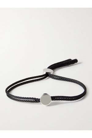 ALICE MADE THIS Men Bracelets - Dot Rhodium-Plated and Cord Bracelet