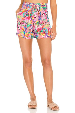 Luli Fama Tie Waist Bermuda Shorts in . Size XS, S, M.