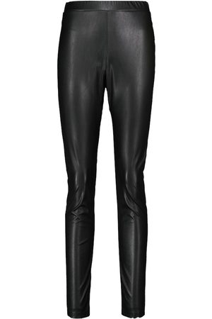 Max Mara Women Leather Trousers - Ranghi high-rise faux leather leggings