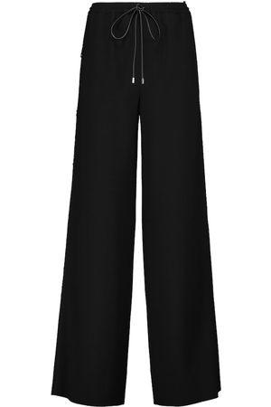 LOEWE Wide-leg wool crêpe drawstring pants
