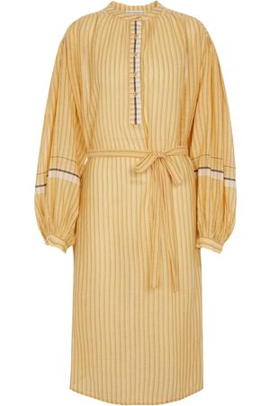 ULLA JOHNSON Rabea striped cotton midi dress