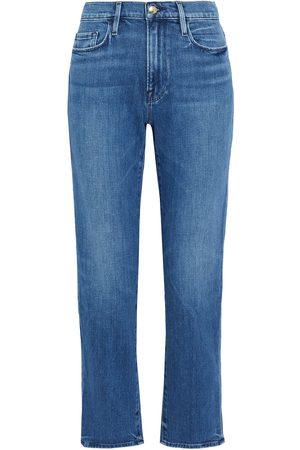 FRAME Woman Le Nouveau Straight High-rise Straight-leg Jeans Mid Denim Size 23