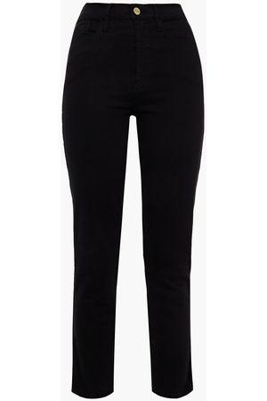 FRAME Women Straight - Woman Le Sylvie Crop High-rise Straight-leg Jeans Size 23