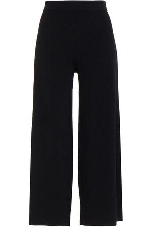 Ninety Percent Woman Cropped Stretch-knit Wide-leg Pants Size L