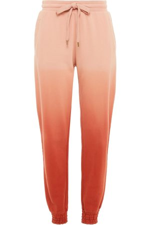 THE UPSIDE Woman Alena Embroidered Dégradé French Cotton-terry Track Pants Pastel Size L