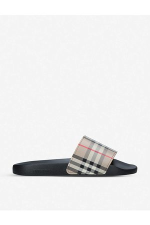 Burberry Furley checked sliders