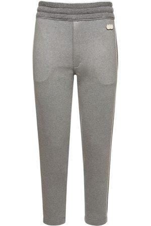 Agnona Cotton Fleece Pants W/cashmere Details
