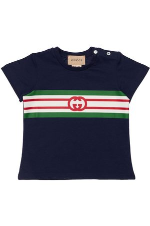 Gucci Boys Polo Shirts - Logo Print Jersey T-shirt