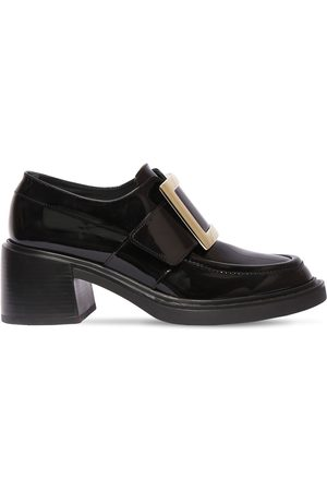Roger Vivier Women Loafers - 60mm Viv Rangers Patent Leather Loafers