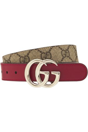 Gucci Girls Belts - Gg Faux Leather Belt