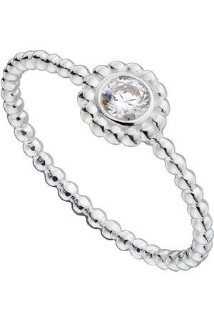 The Love Silver Collection Women Watches - Sterling Silver Dainty Beaded Dress Ring