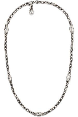 Gucci Men Necklaces - Silver necklace with Interlocking G
