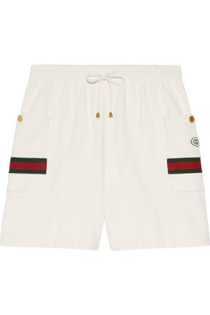 Gucci Men Trousers - Jersey jogging shorts with Web