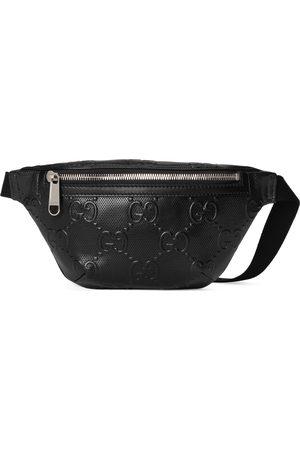 Gucci Men Belts - GG embossed belt bag