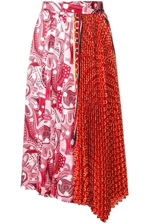 Dondup Contrast print pleated skirt