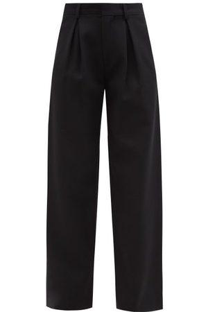 Raey Wide-leg Wool-silk Blend Tapered Trousers - Womens