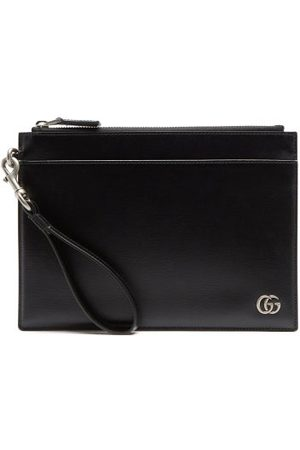 Gucci Men Purses & Wallets - GG Zipped Leather Cardholder Pouch - Mens