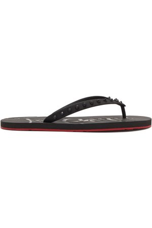 Christian Louboutin Loubi Spike-embellished Pvc Flip Flops - Mens