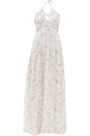 LoveShackFancy Women Printed Dresses - Donovan Halterneck Floral-print Cotton Maxi Dress - Womens - Multi