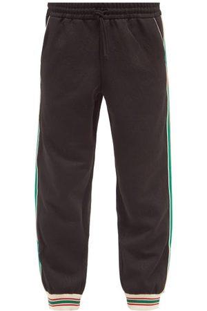 Gucci Men Trousers - Web-stripe Gg-jacquard Jersey Track Pants - Mens