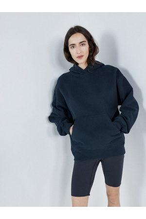 Raey Women Sports Shorts - Elasticated Waist Jersey Cycling Shorts - Womens - Dark Navy