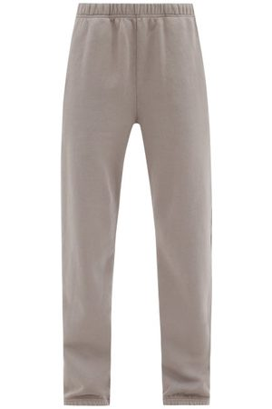 Les Tien Women Trousers - Brushed-back Cotton Track Pants - Womens - Mid