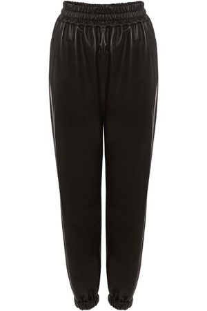 Alexander McQueen Leather Cuffed Trousers