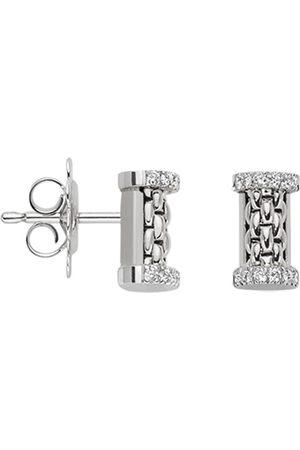 FOPE Essentials 18ct White Gold Diamond Stud Earrings