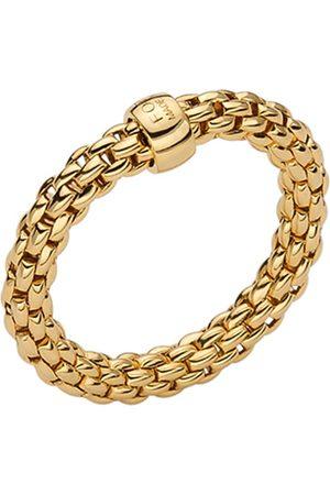 FOPE Essentials 18ct Yellow Gold Flex'it 3.4mm Medium Ring