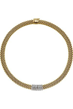FOPE Necklaces - 18ct Yellow & White Gold Panorama Pave Necklace
