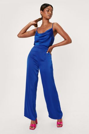 NASTY GAL Womens Don't Texture Us High-Waisted Wide-Leg Trousers