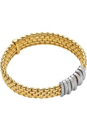 FOPE 18ct Yellow & White Gold Panorama Pave Bracelet