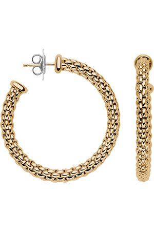 FOPE Essentials 18ct Yellow Gold Medium Hoop Earrings