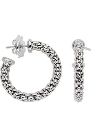 FOPE Earrings - Essentials 18ct White Gold Small Hoop Earrings