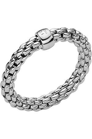 FOPE Essentials 18ct White Gold Flex'it 3.4mm Medium Ring