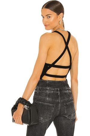 AGOLDE Nova Banded Back Bodysuit in . Size XS, S, M, XL.
