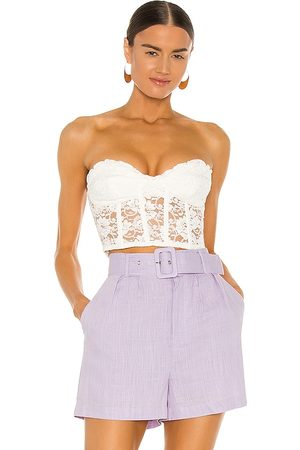 Bardot Lace Corset Bustier in . Size M.
