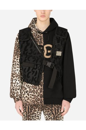 Dolce & Gabbana Coats and Jackets - Flocked leopard-print vest with patch male S