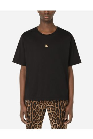 Dolce & Gabbana T-Shirts and Polos - Cotton T-shirt with DG logo male 42