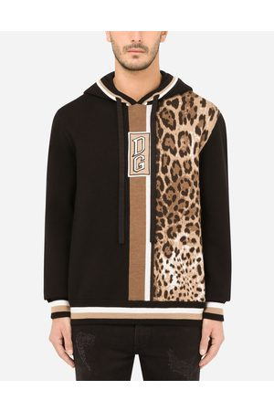 Dolce & Gabbana Sweatshirts - Hooded wool sweater with patch embellishment male 46