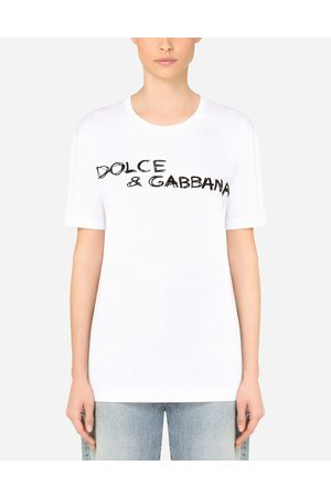 Dolce & Gabbana T-Shirts and Sweatshirts - Oversize short-sleeved jersey T-shirt with lettering female 36