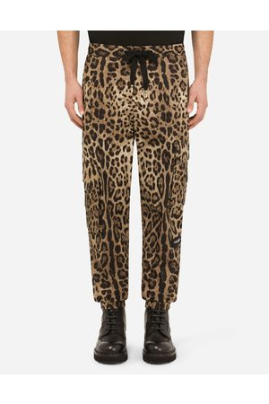 Dolce & Gabbana Collection - Cargo-style jogging pants with leopard print male 48